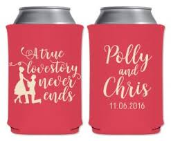 custom wedding koozies wedding koozies that wedding shop