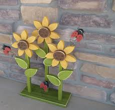Ladybug Home Decor Sunflower On Stand With Ladybugs For Home Decor Porch