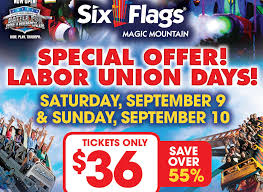 Discounted Six Flags Tickets Union Days At Six Flags