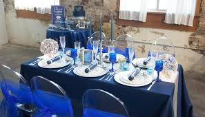 blue and silver wedding midnight blue and silver wedding
