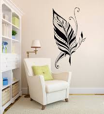 Beautiful Wall Stickers For Room Interior Design Aliexpress Com Buy Art Design Feathers Home Amulet Symbol