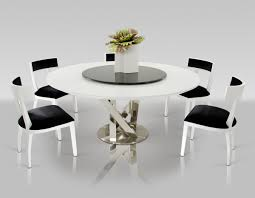 lazy susan dining table a x spiral modern round white dining table with lazy susan