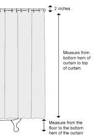 Shower Curtains Sizes Lovely Shower Curtain Height Photos Bathroom With Bathtub Ideas