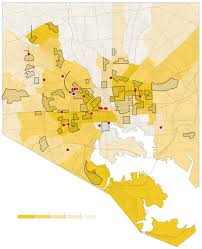 New York Gang Map by Mapping The Clashes Between Baltimore Police And Protesters The