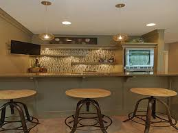 small basement wet bar designs with built in sink and refrigerator