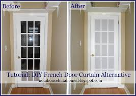 Blinds Or Curtains For French Doors - not a house but a home tutorial diy french door curtain