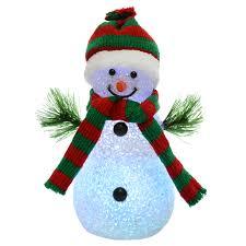 18cm light up snowman colour changing multi led christmas