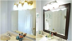 framing bathroom mirror with molding framed bathroom mirror mad in crafts