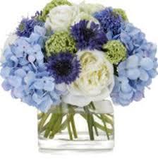 white and blue floral arrangements blue reception wedding flowers wedding decor blue wedding flower