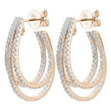 hoop diamond earrings 1 82ct f i1 diamond hoop earrings