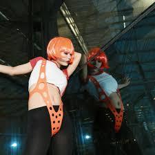 Leeloo Halloween Costume Aliexpress Buy Xcoser Leeloo Orange Suspender Silica Gel