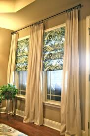 should drapes touch the floor diy living room curtains no sew and no sew faux roman shades