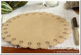 Martha Stewart Craft Paper - placemats made with martha stewart crafts circle edge