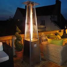 glass tube patio heater athena plus real flame patio heater u0026 free weather cover posh
