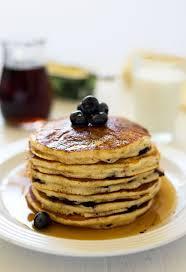 whole wheat lemon ricotta blueberry pancakes