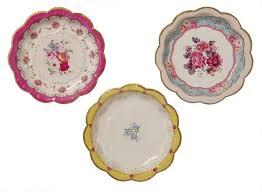 vaisselle jetable fete assiettes carton porcelaine vintage sweet party day