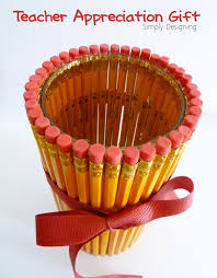 Pencil Vase Teacher Appreciation Gift Idea Pencil Vase From Simply Designing