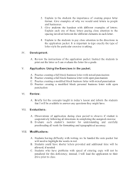 Document 2 Block Style Business Letter Practice Lesson Plan For
