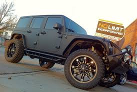 matte grey jeep wrangler wrapped wheels rims baltimore dc no limit incorporated