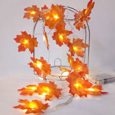 maple leaf garland with lights led white warm autumn maple leaves garland lights string xmas party