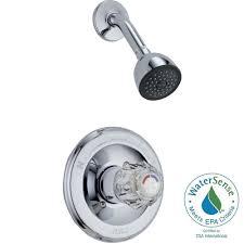 delta tesla single handle 3 spray shower faucet trim kit in chrome