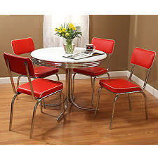 50 s diner table and chairs retro dining set ebay
