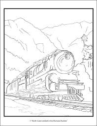 Railroad Posters Of America Coloring Book Rail Color Page