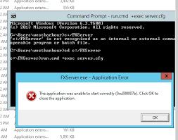 five m server 0xc00007b technical support fivem