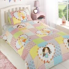 Girls Bright Bedding by Fairy Patchwork Duvet Cover Comes In Single U0026 Double Size Girls