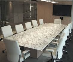 White Marble Conference Table Custom Built Cool Offices