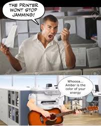 Amber Ls Meme - the printer won t stop jamming captioned stock photos know