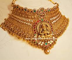 choker gold necklace images Huge lakshmi gold choker gold choker choker and gold jpg