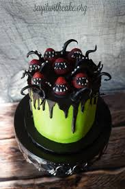 creepy halloween cake say it with cake