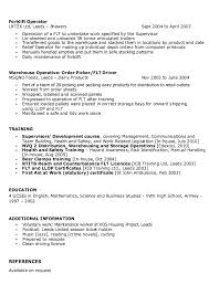 Resume Examples For Warehouse Position by Sample Of Warehouse Supervisor Resume Http Resumesdesign Com