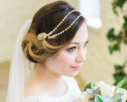 gold headpiece gold leaf and freshwater pearl headpiece vine jules