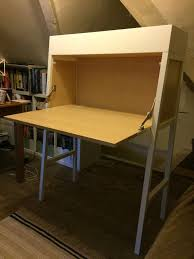 bureau ps hemnes bureau with add on unit white stain 89x198 cm ikea avec ikea