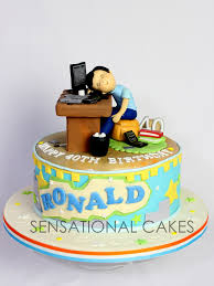 Sensational Theme The Sensational Cakes Daddy Sleeping Over Computer Theme 3d Cake