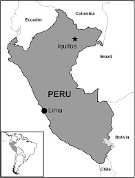Amazon Basin Map Map Of Peru Indicating The Study Site Of Iquitos In The Peruvian