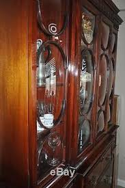 Break Front Cabinet Saginaw Made Vintage Antique Rare Mahogany China Breakfront