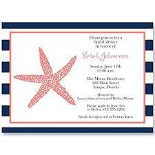 nautical bridal shower invitations nautical bridal shower invitations starfish navy