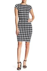 houndstooth dress ady cap sleeve houndstooth dress nordstrom rack