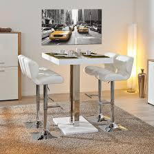 High Bar Table Set Remarkable Palzo Bar Table In White High Gloss With 4 Candid Black