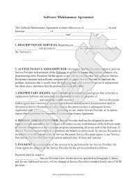 licensing agreement template free software maintenance agreement template with sample software