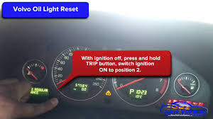 2005 2014 volvo c30 oil light reset service light reset youtube