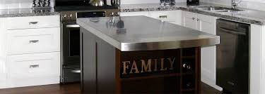 stainless steel countertop with sink stainless steel countertops copper countertops custom kitchen