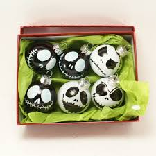 painted 6 pack of the pumpkin king glass ornament set