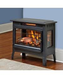 Electric Fireplace Stove Big Deal On Duraflame 3d Black Infrared Electric Fireplace Stove