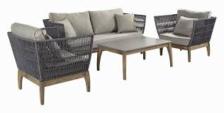 seasonalliving wings indoor outdoor 4 piece rattan sofa set with