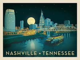 Tennessee travel posters images Anderson design group american travel nashville riverfront jpg