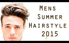 mens summer hair hairstyle tutorial youtube